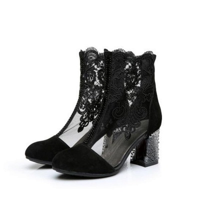 Black shoes with lace | Shoes women buy cheap_5