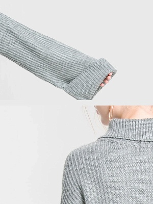 Grauer Hoodies Shop | Sweatshirt Pullover Damen_9