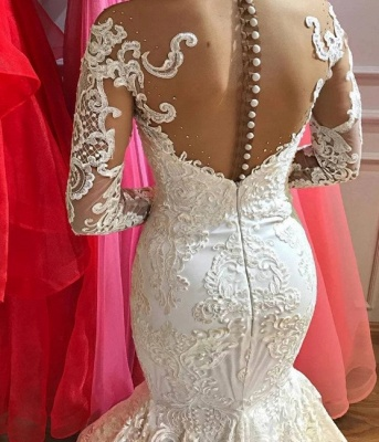 Luxury wedding dresses A line lace | Bridal wear with sleeves_2