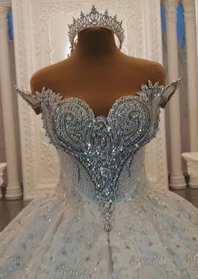 Luxurious Weiße Brautkleider Spitze Prinzessin Hochzeitskleider Brautmoden_2