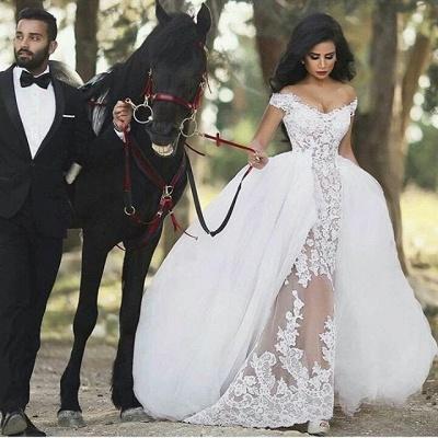 Weiß Brautkleider Meerjungfrau Herz schleppe Brautmoden Hochzeitskleider_2