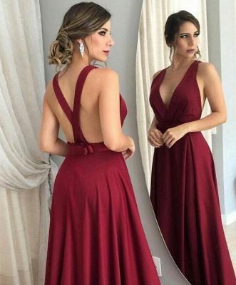 Great Evening Dresses Long Cheap Sheath Dresses Wine Red Prom Dresses_2