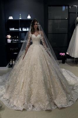 Elegant Wedding Dresses Cheap | Lace wedding dress A line_1