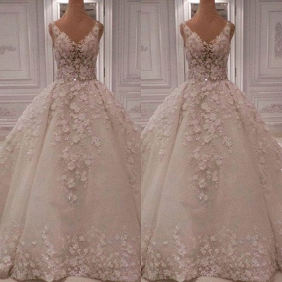 Beautiful luxury wedding dresses | Lace wedding dresses A line princess_2