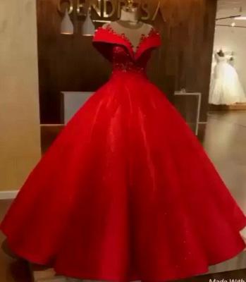 Elegante Rote Abendkleider Lang Günstig Abendmoden Abiballkleider Online_2