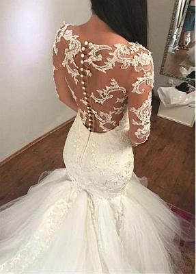 Extravagante Brautkleider Spitze | Hochzeitskleider Mit Ärmel Meerjungfrau_3