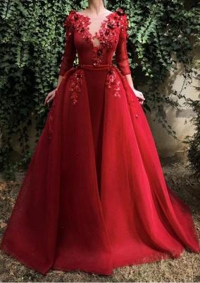 Designer Abendkleider Mit Ärmel | Weinrot Abendmoden Online_1