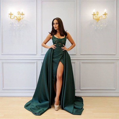 Designer Abank Dresses Long Green | Evening wear with lace_2