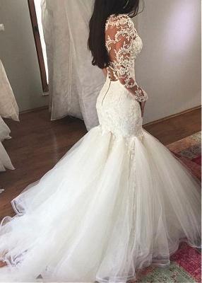 Extravagante Brautkleider Spitze | Hochzeitskleider Mit Ärmel Meerjungfrau_2