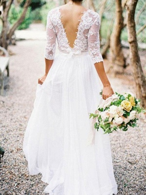 Sheath dresses for wedding wedding dresses with sleeves chiffon wedding dresses online_2