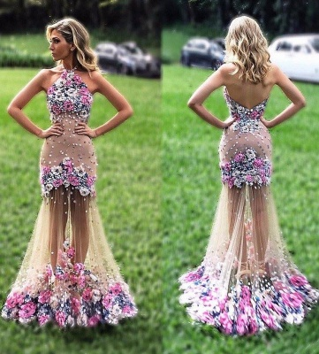 Colored prom dresses evening dresses cheap flower party dresses online_1