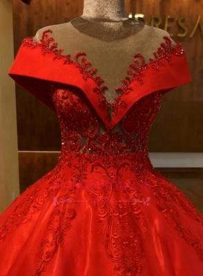 Elegante Rote Abendkleider Lang Günstig Abendmoden Abiballkleider Online_3