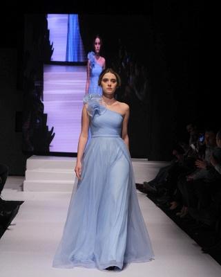 Schlichte Abendkleider Lang Günstig | Abendmoden Blau Online_2