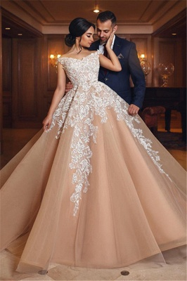 Designer Brautkleider Mit Spitze A Linie Prinzessin Hochzeitskleider Online_1
