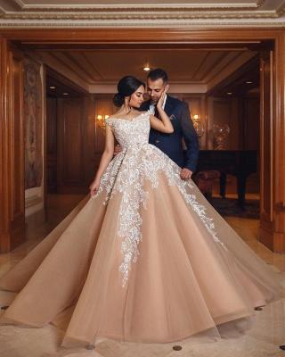 Designer Brautkleider Mit Spitze A Linie Prinzessin Hochzeitskleider Online_3