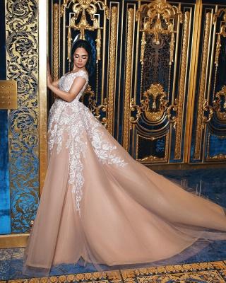 Designer Brautkleider Mit Spitze A Linie Prinzessin Hochzeitskleider Online_2