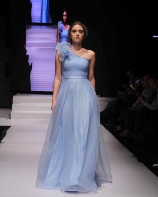 Schlichte Abendkleider Lang Günstig | Abendmoden Blau Online_1