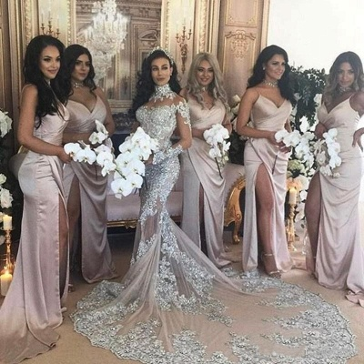 Luxury wedding dresses with sleeves mermaid wedding gowns at low prices online_4