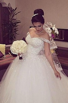 Ball Gown Wedding Dresses White With Lace Princess Wedding Dresses Online_1