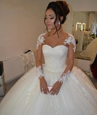 Designer Brautkleider Prinzessin | Hochzeitskleider mit Ärmel_2
