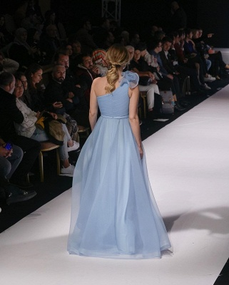 Schlichte Abendkleider Lang Günstig | Abendmoden Blau Online_3