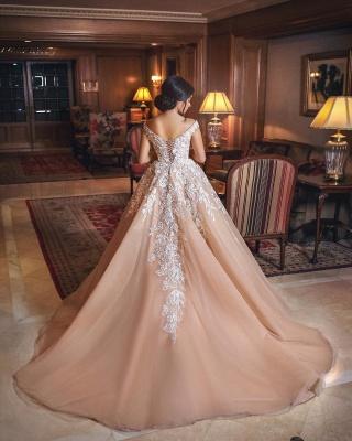 Designer Brautkleider Mit Spitze A Linie Prinzessin Hochzeitskleider Online_4