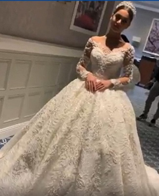White Wedding Dresses Cheap Princess With Lace Tulle Bridal Wedding Dresses_1