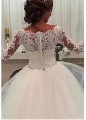 Designer Brautkleid Mit Ärmel | Spitze Hochzeitskleider A Linie_4