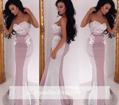 Purple Long Evening Dresses With Lace Heart Mermaid Evening Wear Prom Dresses_1