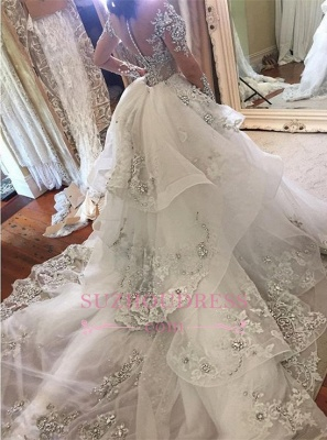 Luxury Wedding Dresses With Sleeves Wedding Dresses A Line Cheap_1