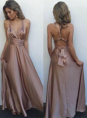 Elegante Lange Abendkleider Abschlussballkleider A Linie Bodenlang Abiballkleider_1