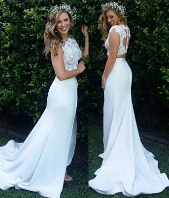 2 divider wedding dresses lace white cheap mermaid wedding gowns dresses registry office wedding_2