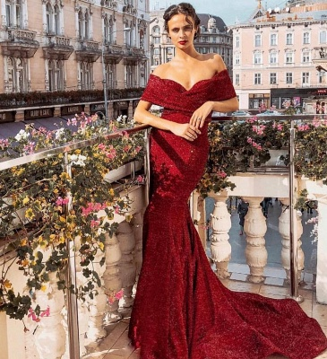 Evening dress long red | Evening dresses with glitter online_2