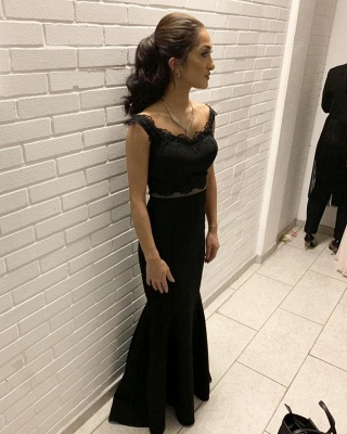 Black Evening Dresses Long | Cheap evening wear in two pieces_1