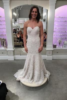 Designer Spitze Hochzeitskleider Online | Brautkleid Meerjungfrau Günstig_1