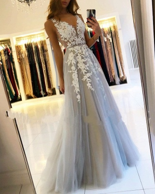 Designer evening dresses with lace | Evening wear long cheap online_3