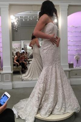 Designer Spitze Hochzeitskleider Online | Brautkleid Meerjungfrau Günstig_3