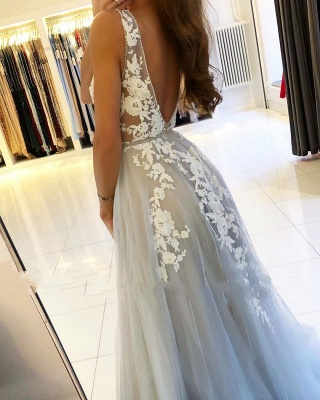 Designer evening dresses with lace | Evening wear long cheap online_2
