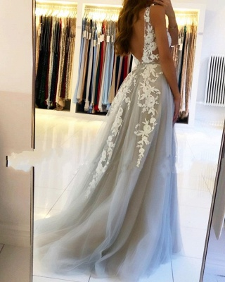 Designer evening dresses with lace | Evening wear long cheap online_4