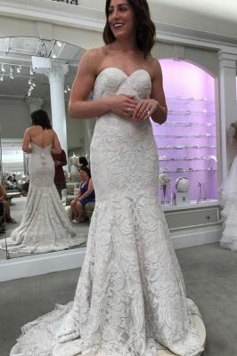 Designer Spitze Hochzeitskleider Online | Brautkleid Meerjungfrau Günstig_2