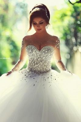Designer Brautkleider Mit Ärmel | Luxus Hochzeitskleider Prinzessin_1