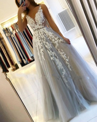 Designer evening dresses with lace | Evening wear long cheap online_1