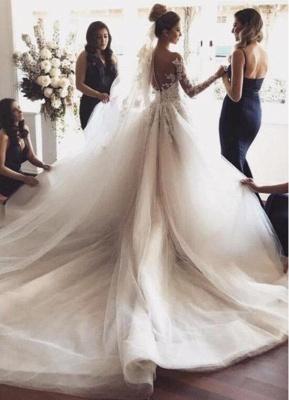Fashion Hochzeitskleider mit Ärmel | Brautkleider Spitzeärmel Günstig_2