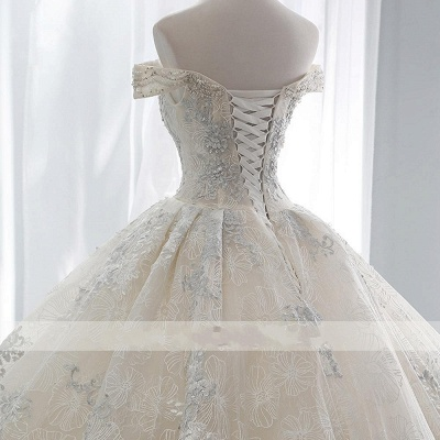Wedding dress A line lace sleeves | Wedding Dresses Cheap Online_4
