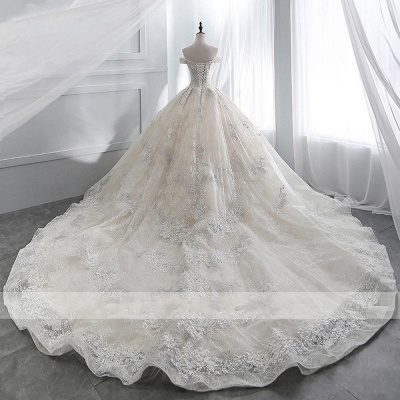Wedding dress A line lace sleeves | Wedding Dresses Cheap Online_5