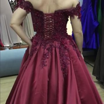 Purple long evening dresses with lace beaded prom dresses cheap online_3