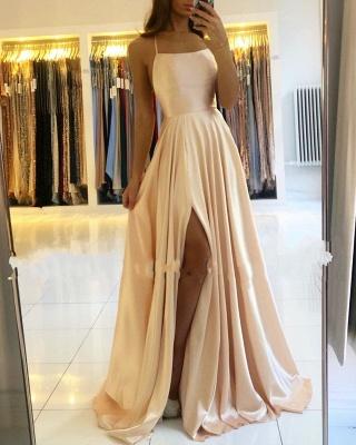 Schlichte Abendkleider Lang Günstig | Champagne Abendmoden Online