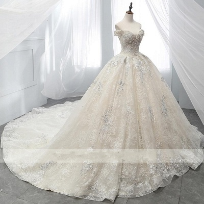 Wedding dress A line lace sleeves | Wedding Dresses Cheap Online_2