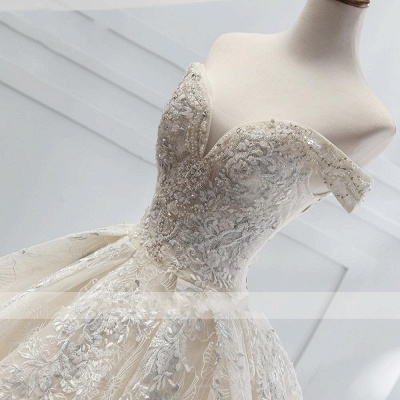 Wedding dress A line lace sleeves | Wedding Dresses Cheap Online_3