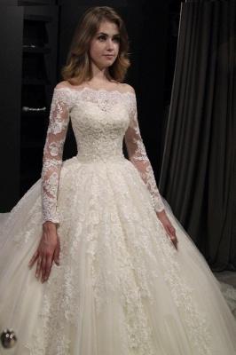 Elegante Brautkleider Prinzessin | Hochzeitskleid Mit Spitzenärmeln_2